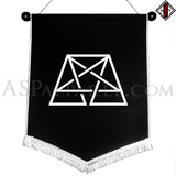 Trapezoid Pentagram Chevron Pennant-satanic-clothing-heathen-merchandise-by-ASP Culture
