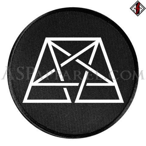 Trapezoid Pentagram Circular Patch-satanic-clothing-heathen-merchandise-by-ASP Culture