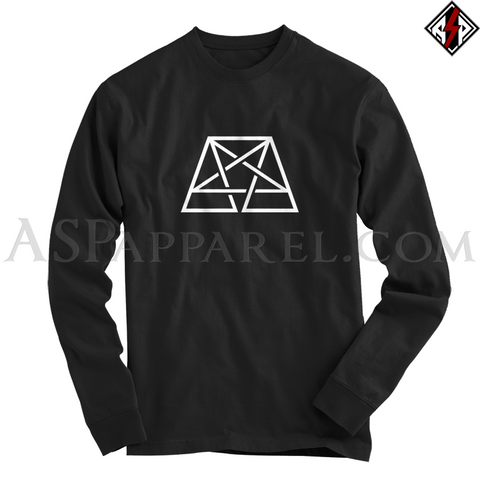 Trapezoid Pentagram Long Sleeved T-Shirt-satanic-clothing-heathen-merchandise-by-ASP Culture