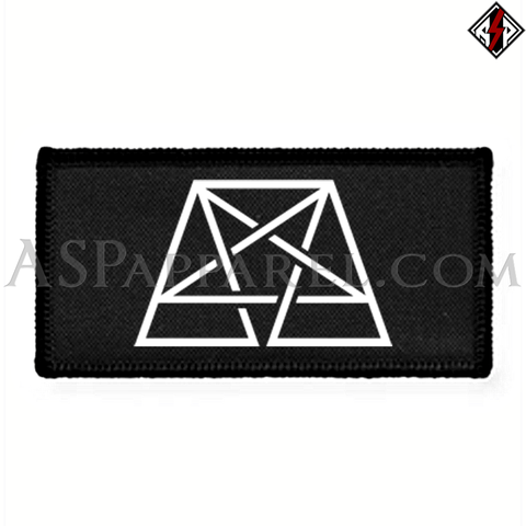 Trapezoid Pentagram Rectangular Patch-satanic-clothing-heathen-merchandise-by-ASP Culture