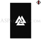 Valknut Banner Flag (Vertical)-satanic-clothing-heathen-merchandise-by-ASP Culture