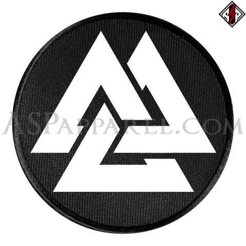 Valknut Circular Patch-satanic-clothing-heathen-merchandise-by-ASP Culture