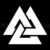 Valknut Satin Skinny Tie-satanic-clothing-heathen-merchandise-by-ASP Culture