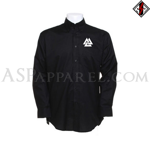 Valknut Long Sleeved Shirt-satanic-clothing-heathen-merchandise-by-ASP Culture