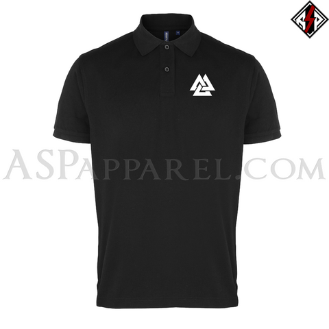 Valknut Polo Shirt-satanic-clothing-heathen-merchandise-by-ASP Culture