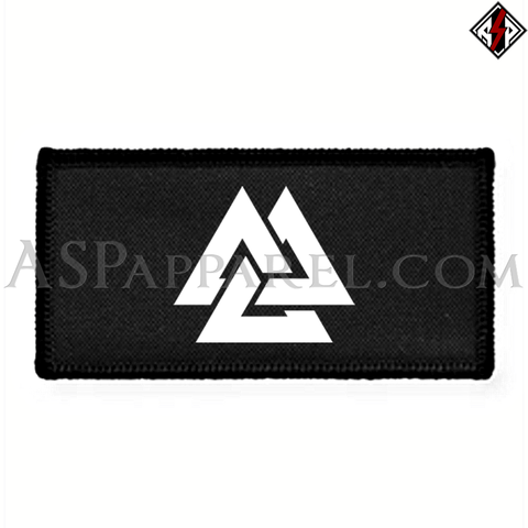 Valknut Rectangular Patch-satanic-clothing-heathen-merchandise-by-ASP Culture