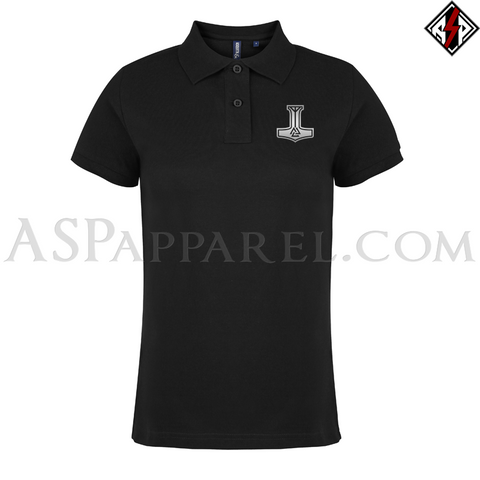 Valknut Thor's Hammer Ladies' Polo Shirt