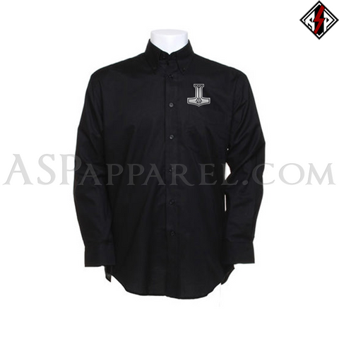 Valknut Thor's Hammer Long Sleeved Shirt-satanic-clothing-heathen-merchandise-by-ASP Culture