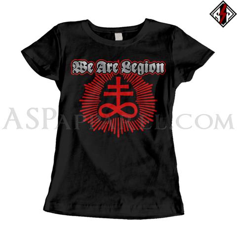 We Are Legion Brimstone Sigil Ladies' T-Shirt-satanic-clothing-heathen-merchandise-by-ASP Culture