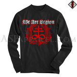 We Are Legion Brimstone Sigil Long Sleeved T-Shirt-satanic-clothing-heathen-merchandise-by-ASP Culture