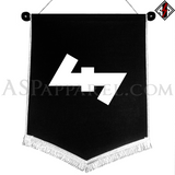 Wolfsangel (Wolf's Hook) Chevron Pennant-satanic-clothing-heathen-merchandise-by-ASP Culture