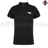 Wolfsangel (Wolf's Hook) Ladies' Polo Shirt-satanic-clothing-heathen-merchandise-by-ASP Culture