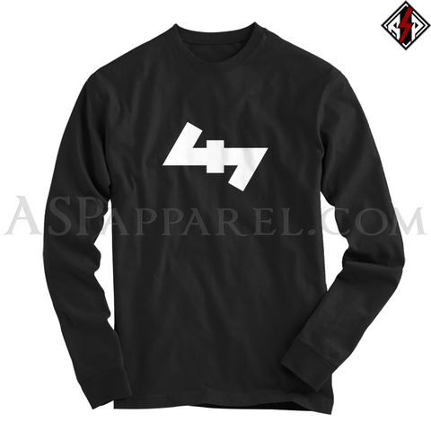 Wolfsangel (Wolf's Hook) Long Sleeved T-Shirt-satanic-clothing-heathen-merchandise-by-ASP Culture