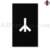 Yr Rune Banner Flag (Vertical)-satanic-clothing-heathen-merchandise-by-ASP Culture