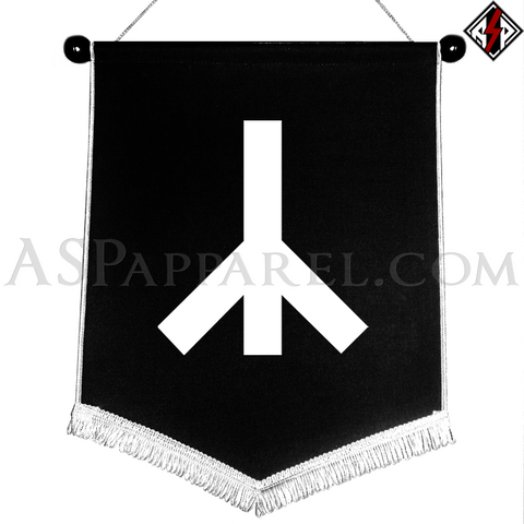 Yr Rune Chevron Pennant-satanic-clothing-heathen-merchandise-by-ASP Culture