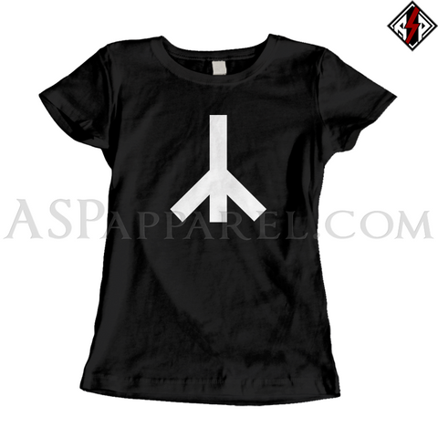 Yr Rune Ladies' T-Shirt-satanic-clothing-heathen-merchandise-by-ASP Culture