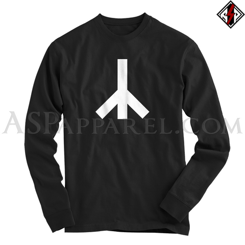 Yr Rune Long Sleeved T-Shirt-satanic-clothing-heathen-merchandise-by-ASP Culture