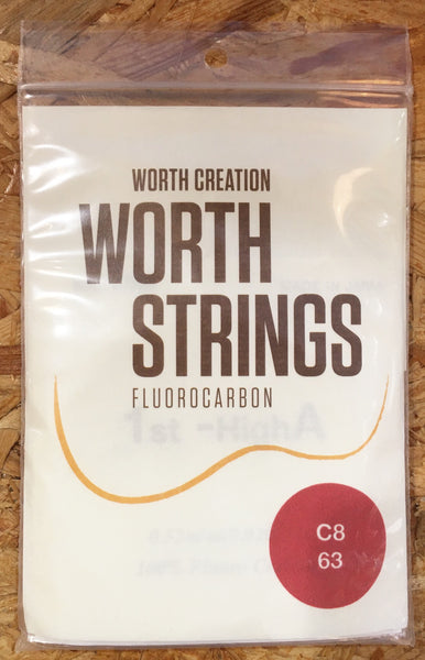 Worth Ukulele String Clear Fluoro Carbon For 8 Strings Ukulele(C-8)