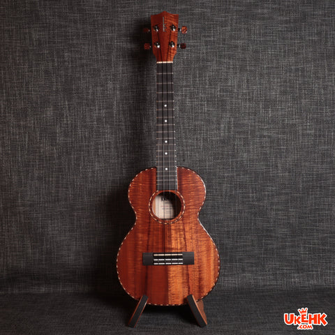 Kamaka All Solid Koa Tenor Deluxe (HF-3D)#191585