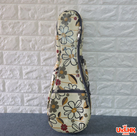 A'AMA Designer Series Gig Bag Soprano-Daisy Floral White(DS-DAISY-WT-S)