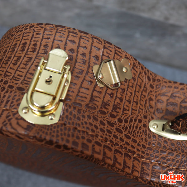 A'AMA Leather Crocodle Brown Concert Case(HC-BR-C)