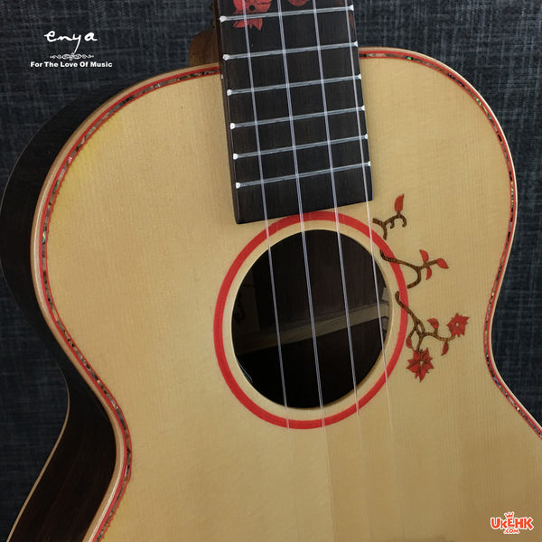 Enya Solid Spruce Tenor with Pickup (EUT-S1-EQ)