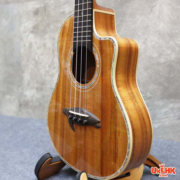Big Island Solid Hawaii Koa Tenor Ukulele(KX-TRCG)