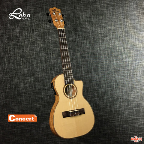 Leho Solid Spruce Slim Concert with Pickup (LHUC-SMF-CE-TE)