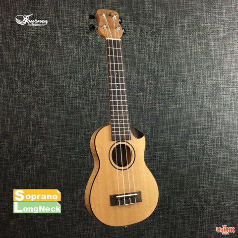 Journey Solid Spruce Soprano Long Neck with Pickup (US-470CTE)