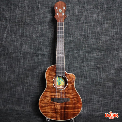 Big Island Solid Hawaii Koa Tenor Ukulele(K5A-TRU)
