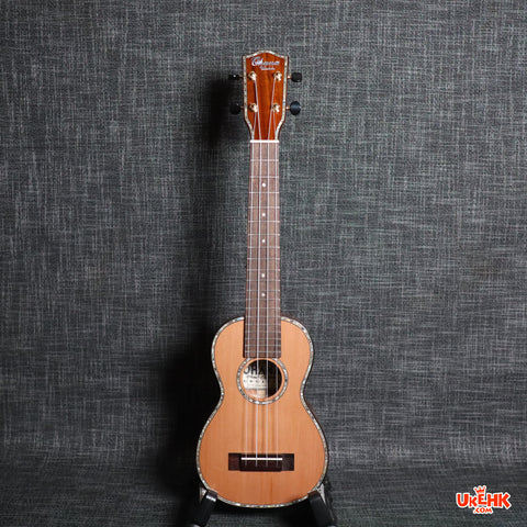 Ohana Solid Cedar Top/ Acacia Soprano Long Neck(SK-250M)