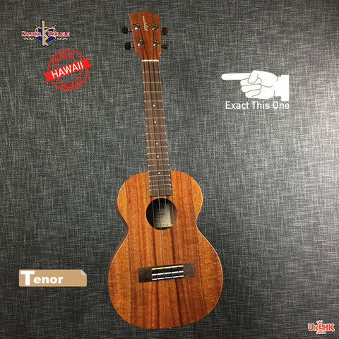 Kamaka Solid Koa Tenor with pickup (HF-3AFV)# 172019
