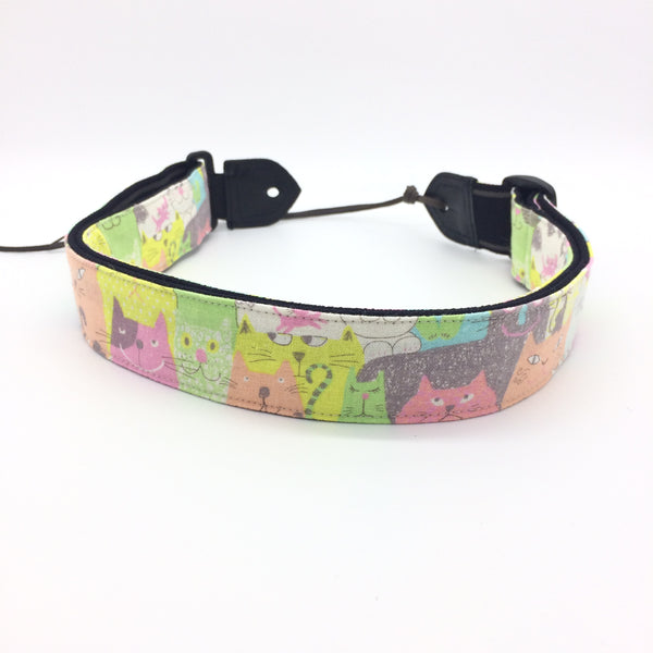 Taiwan Handmade Strap-Colourful Cats (Uke-Strap TH-CC)