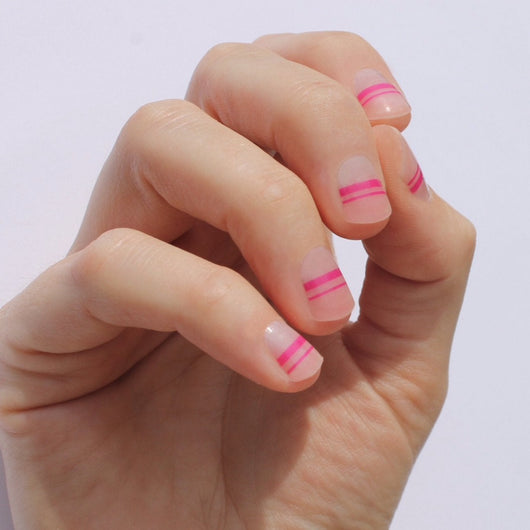 Hot Pink Mia Nail Wraps
