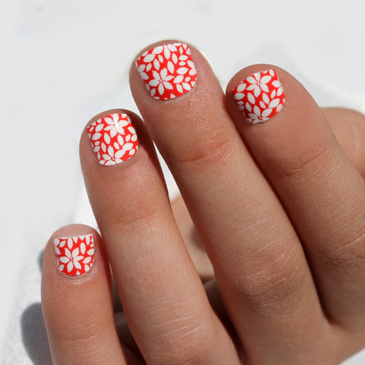 Mini Poppy Flower Nail Wraps