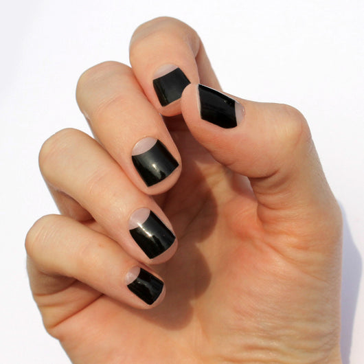 Black Avery Nail Wraps
