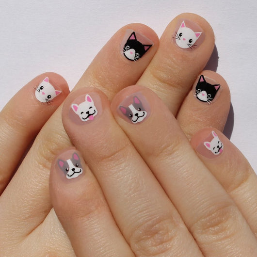 Cats vs Dogs Mini Nail Wraps