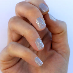 Barely There Gray & Silver Swiss Dot Nail Wraps