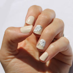 Nude Flower Nail Wraps