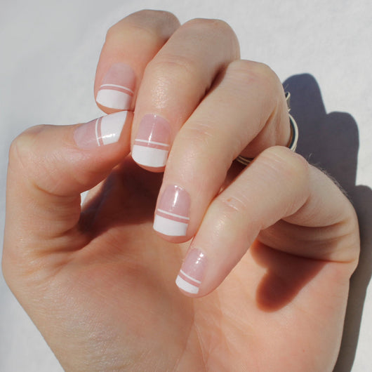 White Piper Nail Wraps