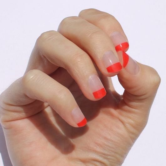 Poppy Tipped Nail Wraps