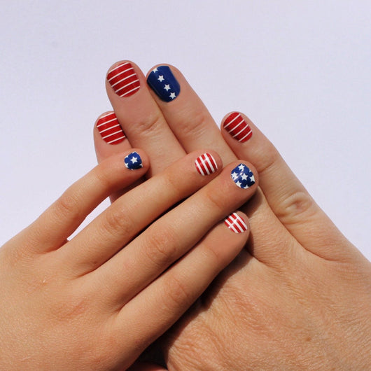 Stars and Stripes Momma & Me Nail Wraps