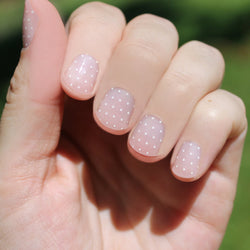 White Swiss Dot Nail Wraps