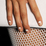 White Moon on Nude Nail Wraps