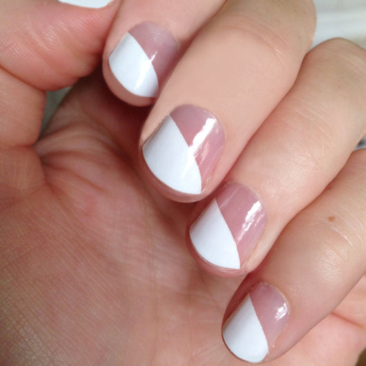 White Modern French Nail Wraps