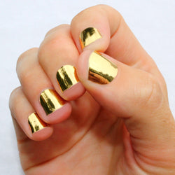 Solid Gold Nail Wraps