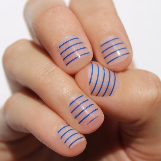 Navy Stripes Nail Wraps