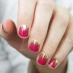 Raspberry Sparkle Nail Wraps