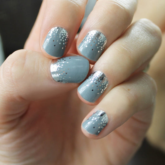 Gray Sparkle Nail Wraps