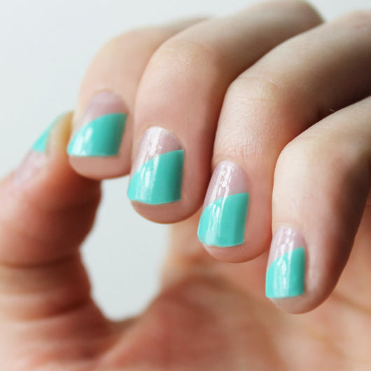 Mint Modern French Nail Wraps